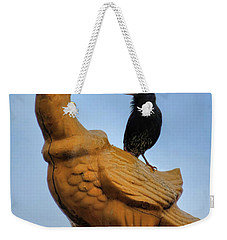 Peacock And The Starling Weekender Tote Bag