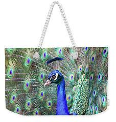 Peacock Bloom Weekender Tote Bag by Steve McKinzie