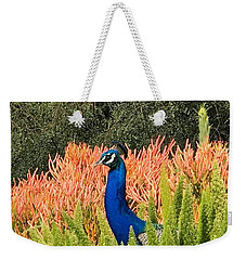 Peacock Blues Weekender Tote Bag by Kruti Shah