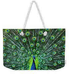 Peacock Colors Weekender Tote Bag