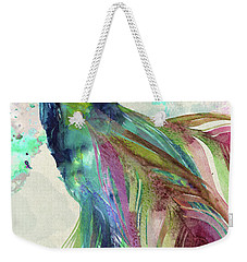 Peacock Dress Weekender Tote Bag by Mindy Sommers