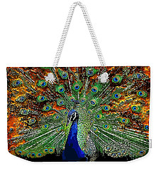 Peacock Exploding Weekender Tote Bag