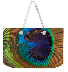 Peacock Feather Macro Detail Weekender Tote Bag