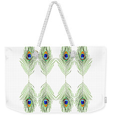 Peacock Feathers Weekender Tote Bag by D Renee Wilson