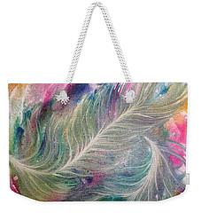 Peacock Feathers Pastel Weekender Tote Bag