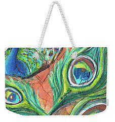 Peacock Feathers Weekender Tote Bag