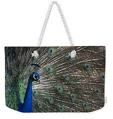 Weekender Tote Bag featuring the photograph Peacock II by Lisa L Silva