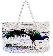 Peacock In Abstract Weekender Tote Bag