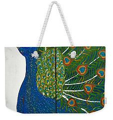 Peacock Iv Weekender Tote Bag by Kruti Shah