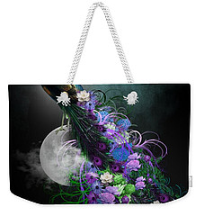 Peacock Of  Flowers Weekender Tote Bag