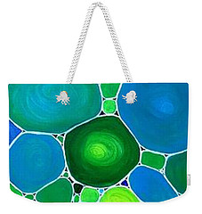Peacock Pebbles  Weekender Tote Bag
