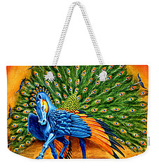 Peacock Pegasus Weekender Tote Bag by Melissa A Benson