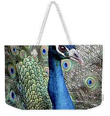 Peacock Portrait Weekender Tote Bag