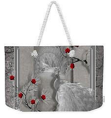 Peacock Purity Weekender Tote Bag