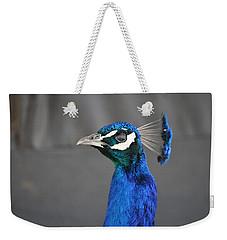 Peacock Stare Down Weekender Tote Bag