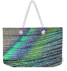 Peacock Stripes Weekender Tote Bag