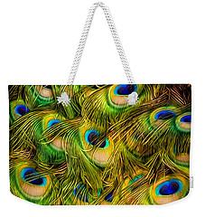 Peacock Tails Weekender Tote Bag