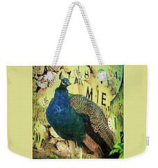 Peacock Time Weekender Tote Bag