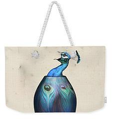 Peacock Vase Weekender Tote Bag by Keshava Shukla