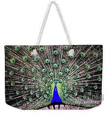 Peacock Weekender Tote Bag by Vivian Krug Cotton