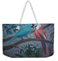 Peacocks In The Jungle Weekender Tote Bag