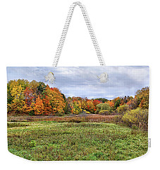 Weekender Tote Bag featuring the photograph Peak Colors by Kathi Mirto