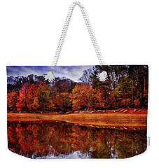 Weekender Tote Bag featuring the photograph Peak? Nope, Not Yet by Edward Kreis