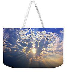 Peaking Behind The Clouds Weekender Tote Bag