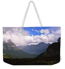 Peaks And Valleys Glacier National Park Weekender Tote Bag
