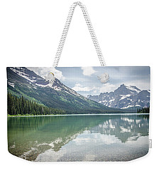 Weekender Tote Bag featuring the photograph Peaks At Lake Josephine by Margaret Pitcher