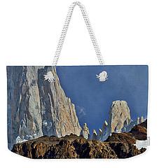 Peaks Next To Fitz Roy #3 - Patagonia Weekender Tote Bag by Stuart Litoff