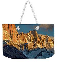 Peaks Next To Fitz Roy - Patagonia Weekender Tote Bag