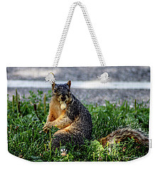 Weekender Tote Bag featuring the photograph Peanut by Joann Copeland-Paul