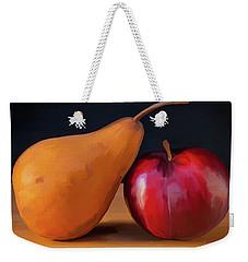 Pear And Plum 01 Weekender Tote Bag by Wally Hampton