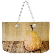 Pear On Cutting Board 2.0 Weekender Tote Bag by Michelle Calkins