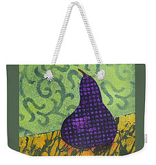 Pear Patterns Weekender Tote Bag by Nancy Jolley