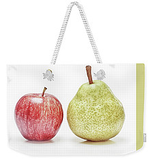 Weekender Tote Bag featuring the photograph Pearable by Kathi Mirto