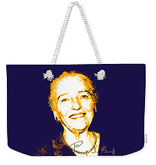 Weekender Tote Bag featuring the digital art Pearl Buck by Asok Mukhopadhyay