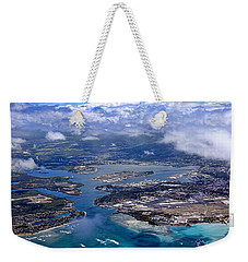 Pearl Harbor Aerial View Weekender Tote Bag