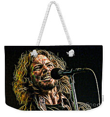 Pearl Jam Eddie Vedder Collection Weekender Tote Bag by Marvin Blaine