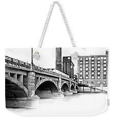 Pearl Street Bridge High Key Weekender Tote Bag by Evie Carrier