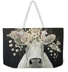 Pearlette The Cow Weekender Tote Bag