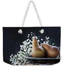 Pears And Baby's Breath Weekender Tote Bag