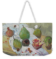 Pears Figs And Young Pomegranates Weekender Tote Bag