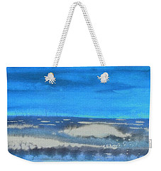Weekender Tote Bag featuring the painting Peau De Mer by Marc Philippe Joly