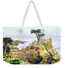 Pebble Beach Lone Cypress Tree Weekender Tote Bag