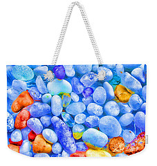 Weekender Tote Bag featuring the photograph Pebble Delight by Andreas Thust