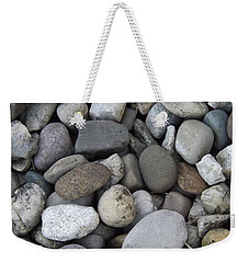 Weekender Tote Bag featuring the photograph Pebbles 1 by Don Koester