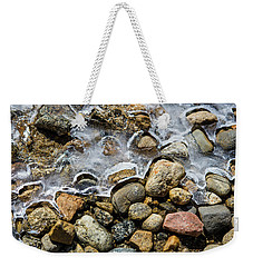 Pebbles And Ice Weekender Tote Bag