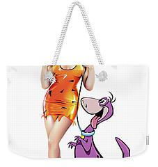 Pebbles N Dino Weekender Tote Bag